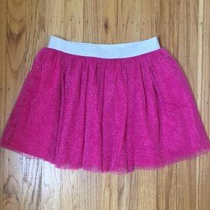 Dark Pink Silver Tutu Skirt